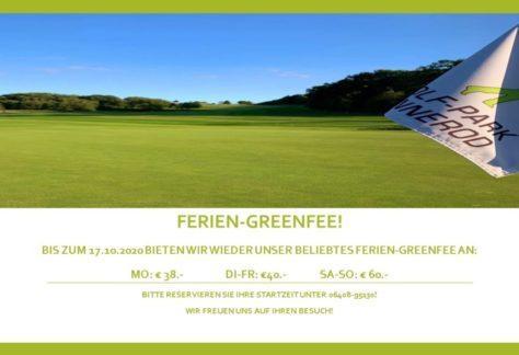 Ferien-Greenfee!