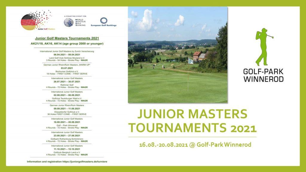 Junior Masters Tournaments 2021 @ Golf-Park Winnerod