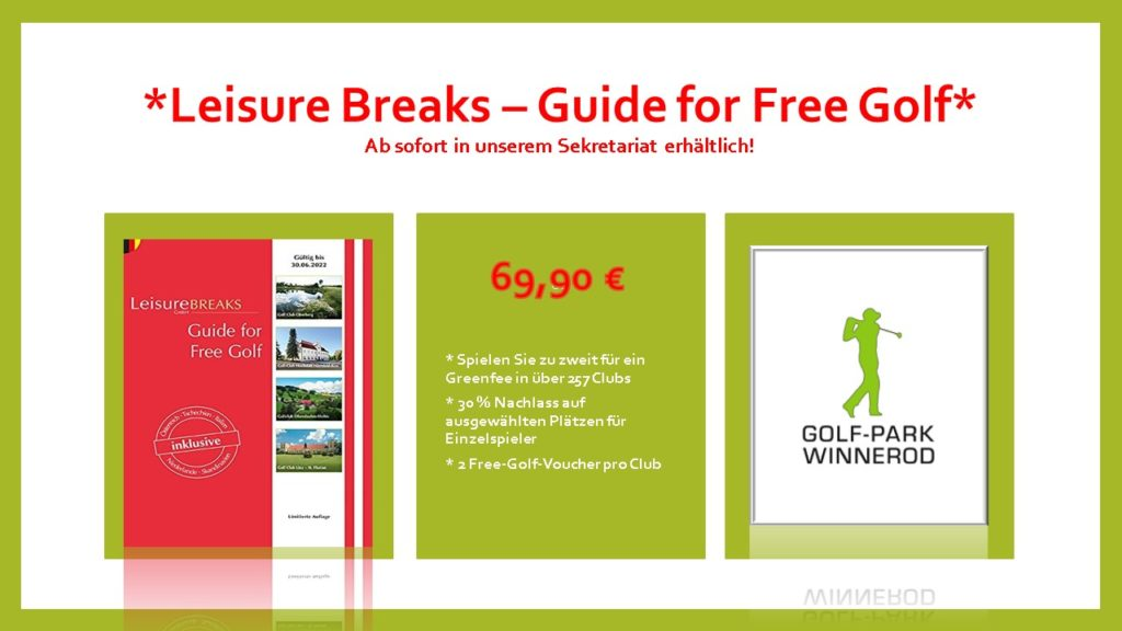 *leisure breaks – guide for free golf*